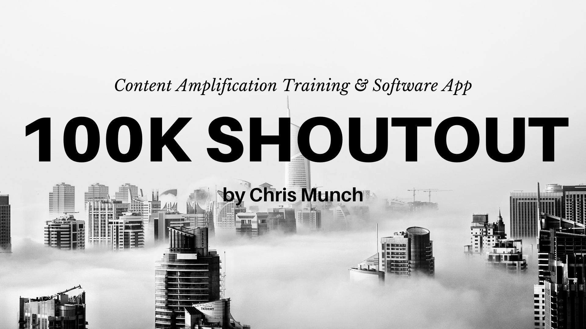 100K shoutout review training software app